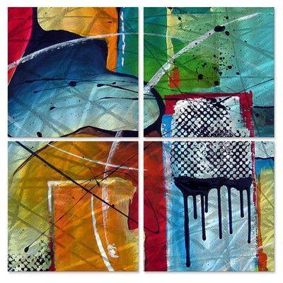 All My Walls Charming Flow by Marina Rehrmann 4 Piece Original Painting Set Size: