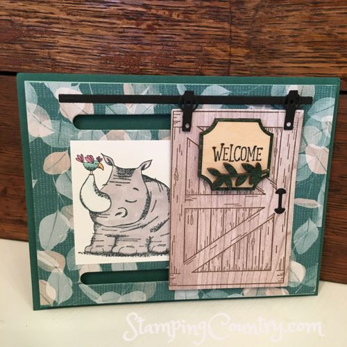 April OnStage Display Stamper, Animal Outing Stampin' Up!, Card, Barn Door