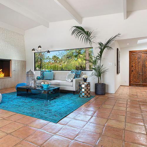 Saltillo Tile Ideas Pictures Remodel And Decor Modernhomedecorinteriordesign Living Room Decor Modern Tile Floor Living Room Saltillo Tile