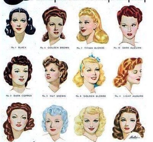 Coiffure and Cheveux on Pinterest - 1940 Hairstyles