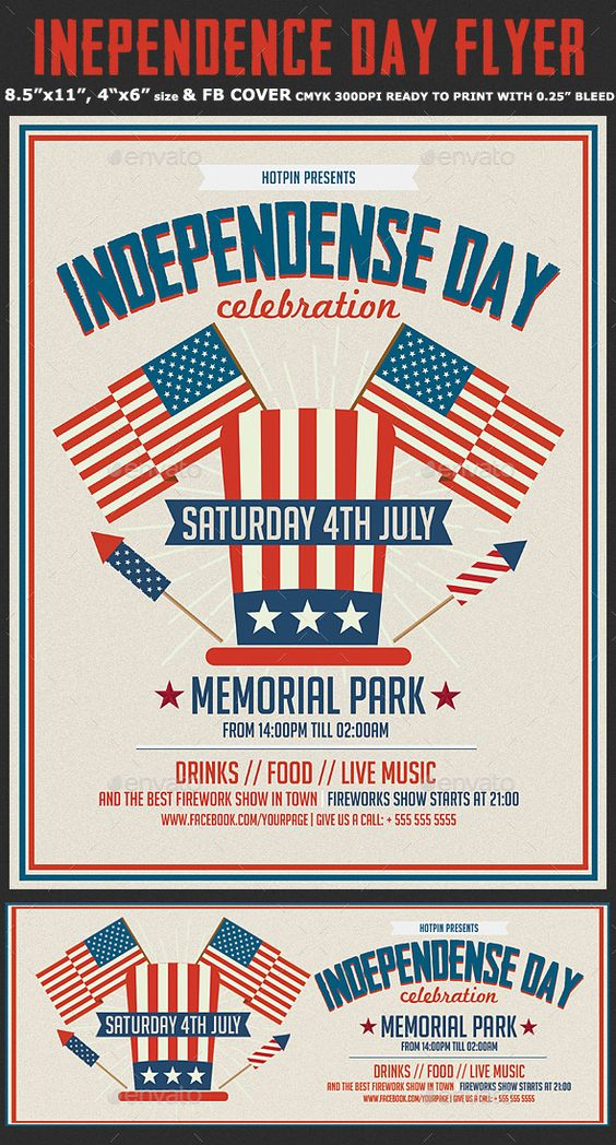 Memorial  Independence Day Flyer By Hotpin On Creative Market
