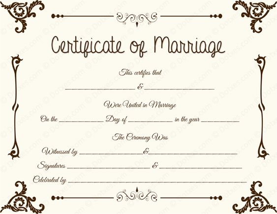 Fake Blank Marriage Certificate Template - birth certificate template printable