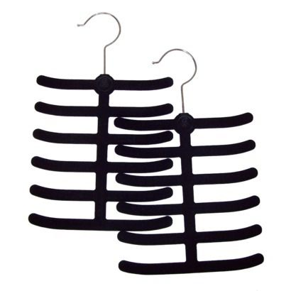 Joy Mangano Huggable Hangers® Tie and Belt Hangers from Target - Black - this is a set of 2 that would work great for scarves too I think - for only $4.99 for the set, this can't be beat!