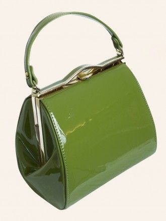 Pin-up Girl Handbag Martini Green from Vivien of Holloway