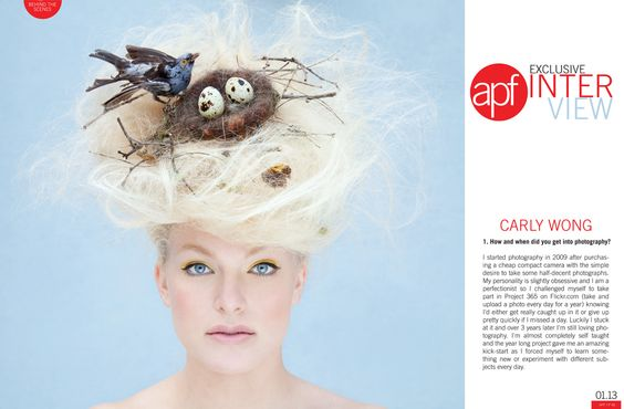 APF interview with photographer Carly Wong. Part 1. www.carlywong.co.uk