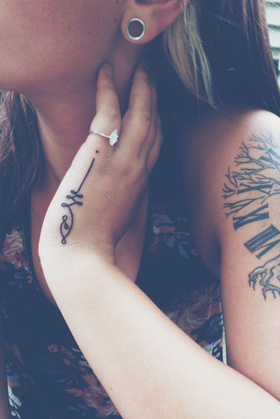 Unalome tattoo