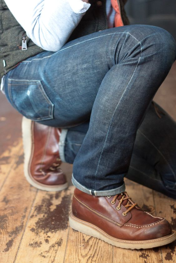 jeans and brown shoes - men fashion things ....