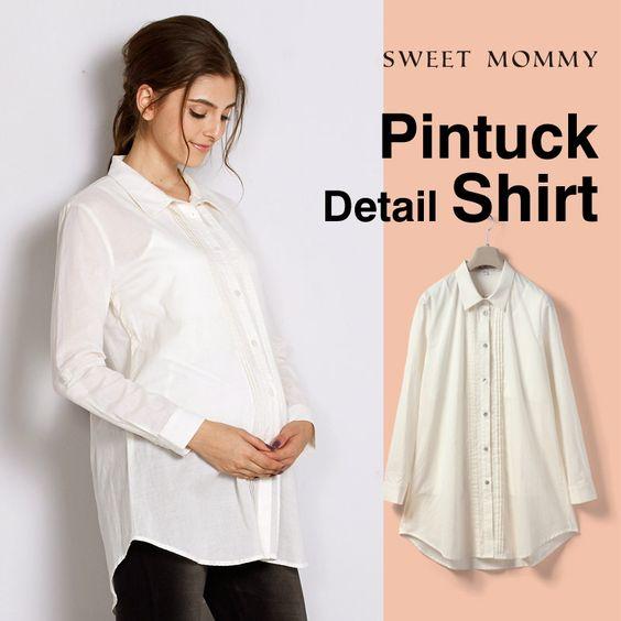 Camicia premaman allattamento 2 pz in cotone bio ST5126 , 56,00EUR, Sweet Mommy, abbigliamento premaman e allattamento
