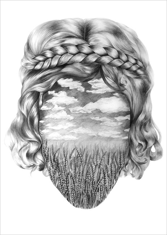 Hair illustration  by eika dopludo