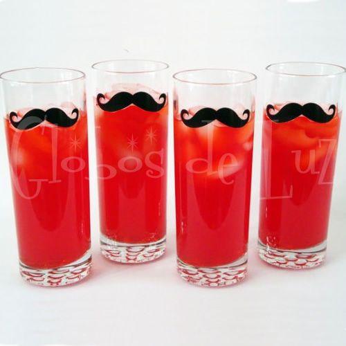 mustache stickers bigotes para copas y vasos ideas originales para bodas y fiestas