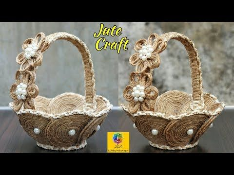 Diy Heart Shaped Wall Hanging With Jute Rope Wall Decor Showpiece Making Using Jute Rope Youtube Cardboard Crafts Jute Twine Crafts Jute Crafts