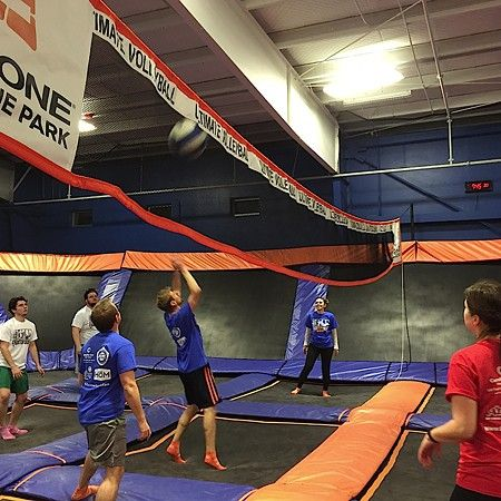 Trampoline volleyball is real!