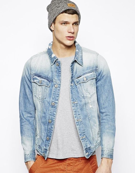 Slim Denim Jacket Tailor Blue | Coats, Laid back style and Shops