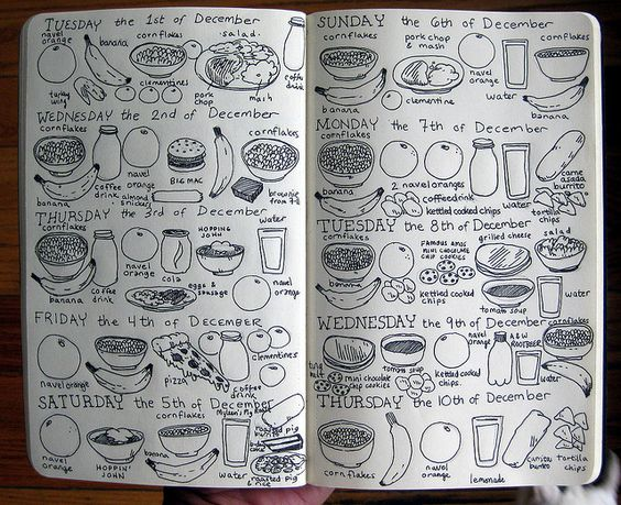 cool food journal...that's one way of doing it
