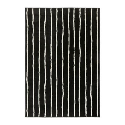 Gorlose Rug Low Pile Black White Avec Images Tapis Noir Et Blanc Ikea Tapis Noir Et Blanc Tapis