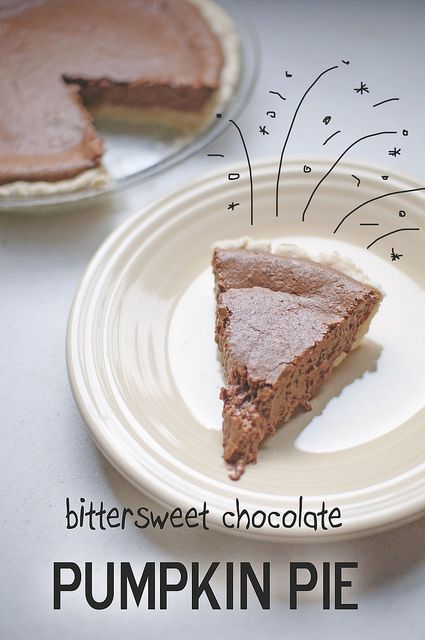 Bittersweet Chocolate Pumpkin Pie
