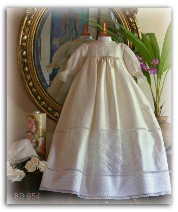 Pretty Originals Style BD954 Long Sleeve Silk & Lace Heirloom Gown