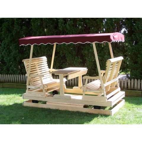 Keystone Glider 4 Person Amish, Patio Furniture Swings And Gliders
