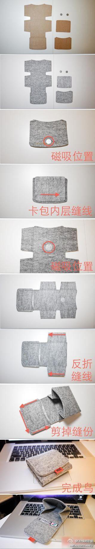 製作錢包 Folded cloth wallet