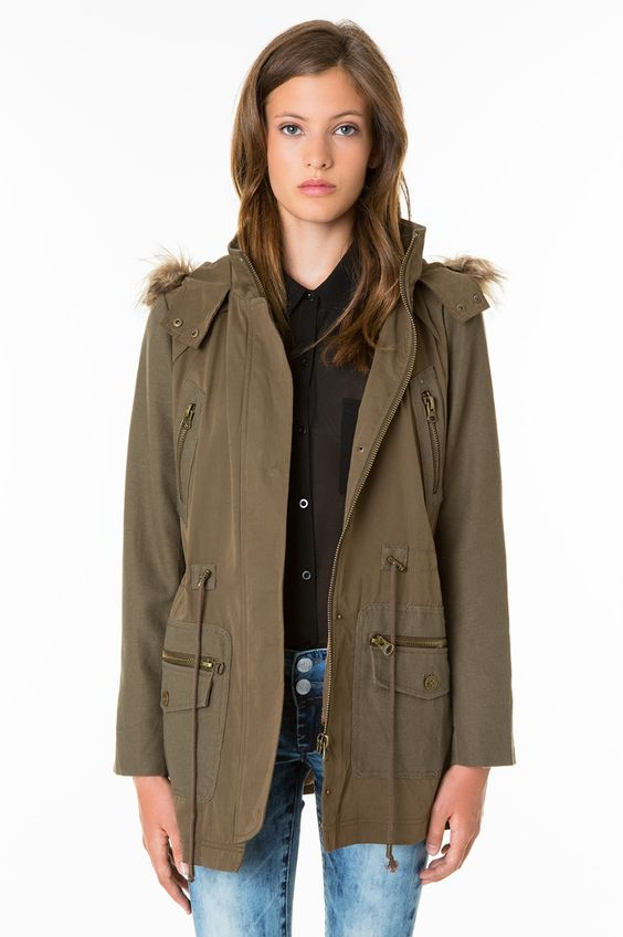 cool khaki hooded parka travel adventure TALLYWEiJL http