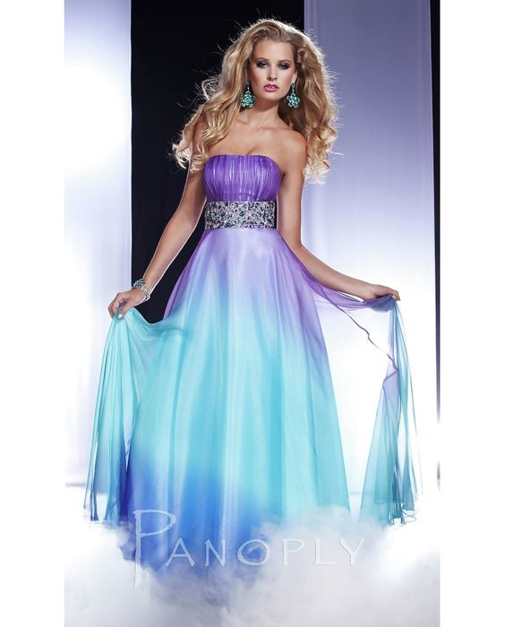 purple and blue dress:)  prom dresses ❤  Pinterest  Blue ...
