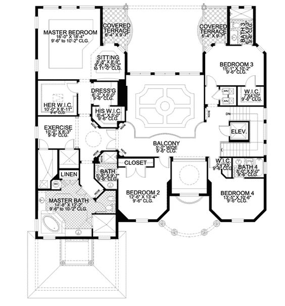Plan 32040AA The Ultimate Master Suite 2nd floor House plans