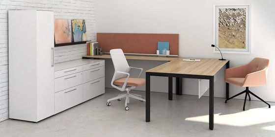 Don T Sacrifice Style And Fun Just Because Your Office Space Is Small Make It Feel And Look Bigger Office Storage Furniture Furniture Office Furniture Modern