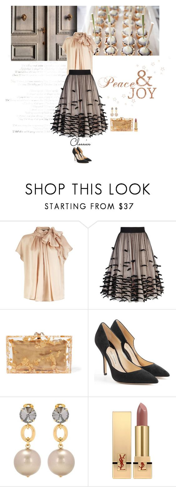 """""""Classics"""" by frechelibelle ❤ liked on Polyvore featuring Coast, Charlotte Olympia, Paul Andrew, Marni, Yves Saint Laurent and christmas2016"""