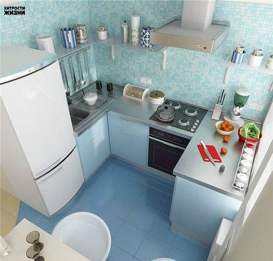 This Tiny kitchen is my most favorite tiny kitchens I've seen because of its lay out. What I would change is the location of the sink under the window to have counter space closer to fridge.