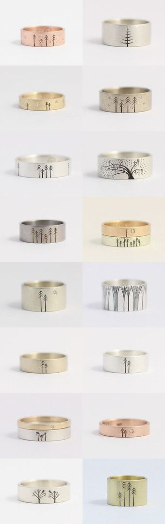 Ethical and Eco Friendly Tree Wedding and Engagement Rings by Ash Hilton by Ash and Laurel on Etsy--Pinned with TreasuryPin.com