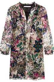 Diane von Furstenberg Annalise printed silk-chiffon mini dress