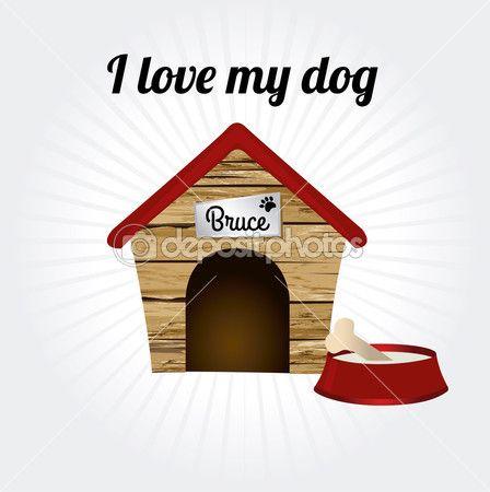 Quiero a mi perro — Ilustración de stock #32689495