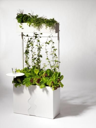 The Urban garden for balcony or townhouse in white | Inreda Design Shop