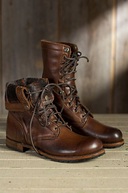 Men&39s Walk-Over Ian Fold-Over Leather Jump Boots | Leather Blog