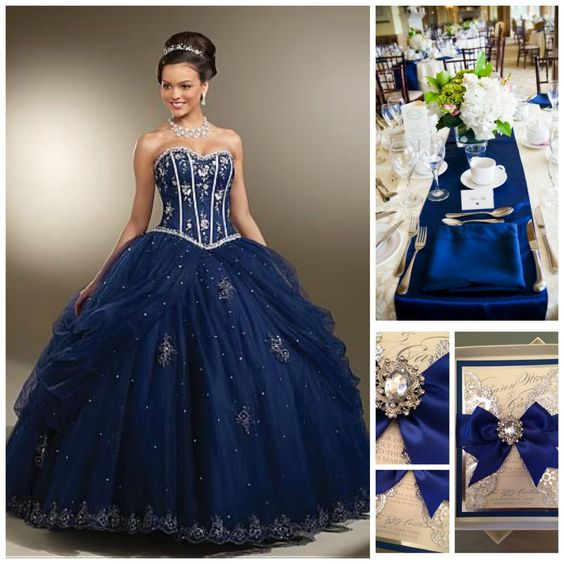Quince Theme Decorations | Quinceanera ideas, Blue and Royals