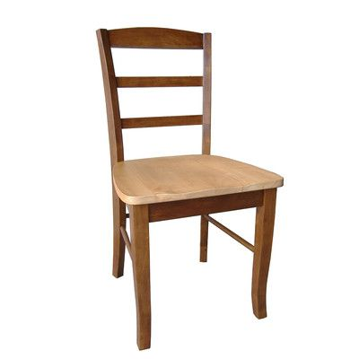 August Grove Brianne Ladderback Side Chair Finish: