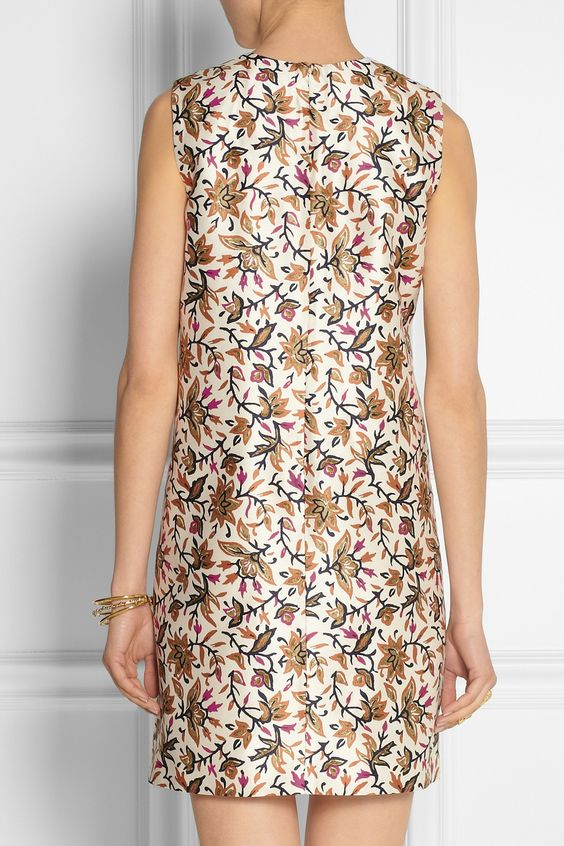 Tory Burch | Esmeralda floral-print silk-crepe dress | NET-A-PORTER.COM | 3  piece | Pinterest | Silk crepe, Printed silk and Crepe dress