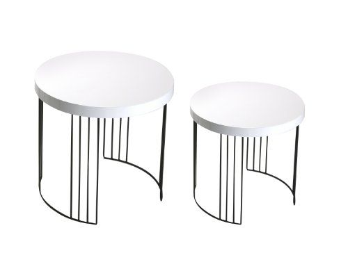 TxT SET 2 Tavolini rotondi laccati bianchi con struttura in metallo Kansas VERSA http://www.amazon.it/dp/B00GD5EDOA/ref=cm_sw_r_pi_dp_-OMGvb1VC5KHJ