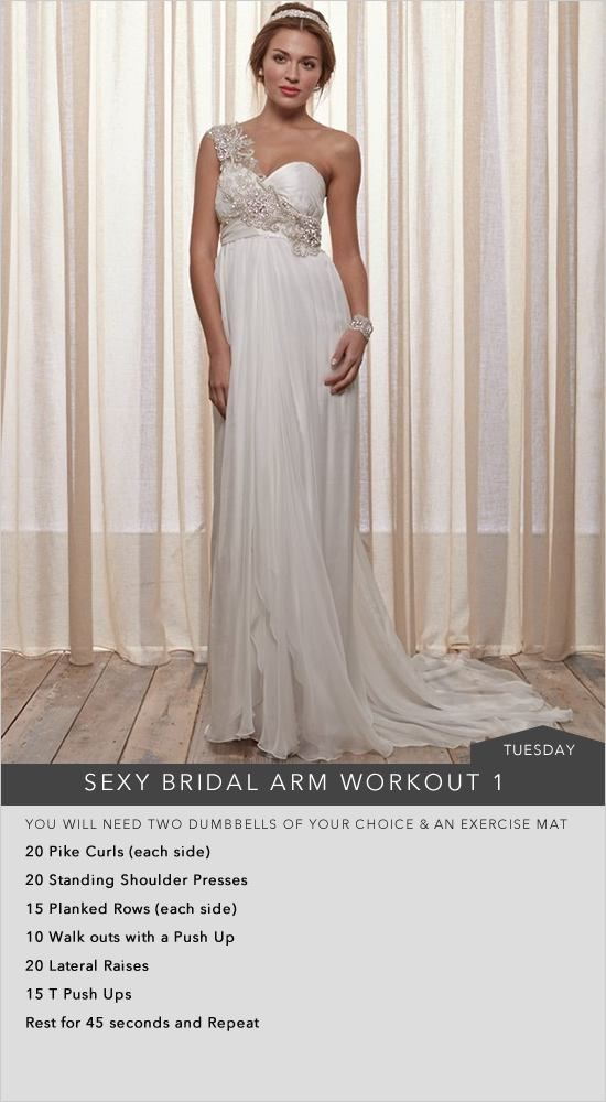 Arm workout to look and feel your best on your big day
