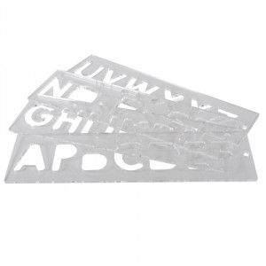 Trend TEMP/LUC/57 Template set letters 57mm uppercase letters and numbers - ideal for sign making