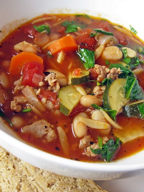 Vegetables, Italian sausages and Soups on Pinterest