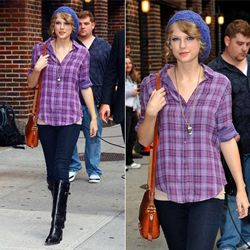 Taylor Swift wearing Lizzy Couture necklace
