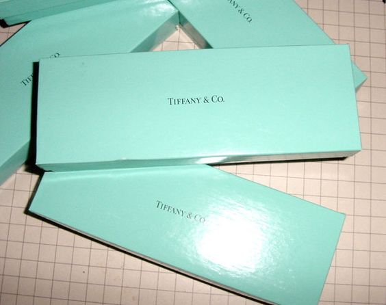 Five Tiffany Blue Boxes AUTHENTIC 2 by 8 to by oxfordjewelry, $34.00
