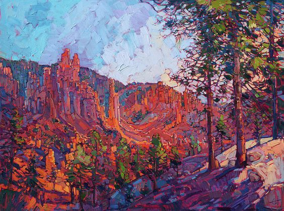 Vista At Bryce Painting by Erin Hanson