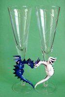 Kék és fehér sárkány
