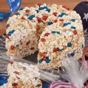 Rice krispie treat bundt cake