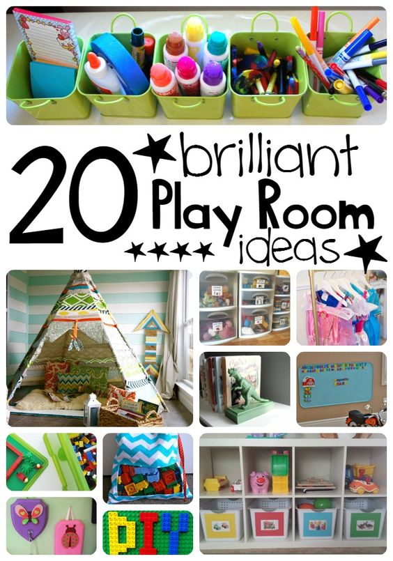 Back when I was little, my mom could have used these 20 Brilliant Play Room Ideas. We had a lot of fun but our toys were always under foot.