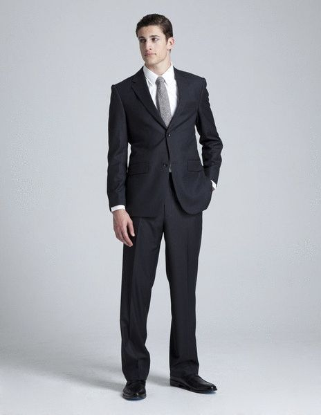 Black pinstripe suit, Pinstripe suit and Men's suits on Pinterest