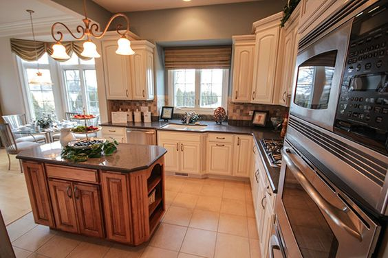 Best White Kitchen Cabinets Contrasting Island More Home 400 x 300