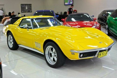 Yellow 1968 Chevrolet Corvette Stingray